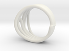 HeliX Kink Ring - 18 mm in White Strong & Flexible