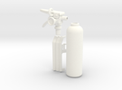 1:7 Scale 33mm Bottle Extinguisher in White Strong & Flexible Polished