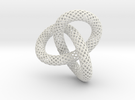 Knotted Torus With Ball in White Strong & Flexible