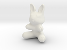 Toy Bunny (1in./2.54cm) in White Strong & Flexible