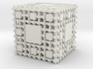 Menger Sponge Negative in White Strong & Flexible
