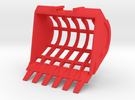 Sieve Bucket MG in Red Strong & Flexible Polished