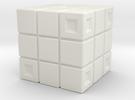 Rubik's Cube Inspired Die in White Strong & Flexible