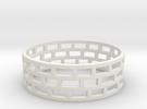 Brickwork Ring in Premium Silver