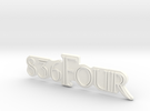 836Four Motorcycle Ornament in White Strong & Flexible Polished