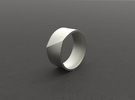 """LINE""_Men ring in Stainless Steel"