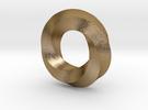 Mini (5,4) Mobius Loop in Polished Gold Steel