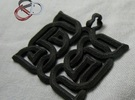 AsYm: Pendant in Matte Black Steel