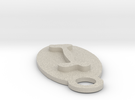 Dog Bone Key Chain in Sandstone