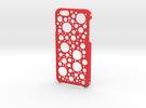 iPhone 6 Circles Case in Red Strong & Flexible Polished