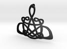 CelticKnot Pendant in Matte Black Steel