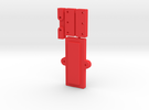 26650 Mod Clamp Group in Red Strong & Flexible Polished