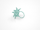 Aster Ring (Small) Size 7 in White Strong & Flexible