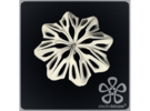 Anna flower charm. in White Strong & Flexible