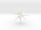 Sputnik Christmas Ornament in White Strong & Flexible Polished