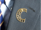 My Dad Survived The Big C Pin/Pendant/Fob, Cut-Out in Polished Bronze