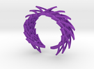Spiked Arrowhead Cuff in Purple Strong & Flexible Polished