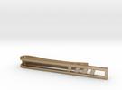 Minimalist Tie Bar - Quad Slash in Polished Gold Steel
