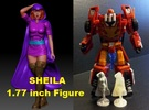 Sheila of D&D 1.77inch Figure in Polished Metallic Plastic