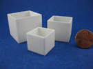 Cube Planter 3-piece Collection 1:12 scale in White Strong & Flexible Polished