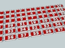 N.C.C WT&Y class Number plates in Frosted Ultra Detail