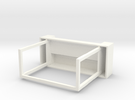 """Space 1999 Moonbase Desk (Mego 8"""" Scale) in White Strong & Flexible Polished"""