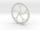 "D&RGW BRAKE WHEEL - 2,5"" Scale in White Strong & Flexible"