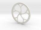 "D&RGW BRAKE WHEEL - 2,5"" Scale in White Strong & Flexible"