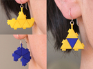 Triangle Block Earrings in Yellow Strong & Flexible Polished