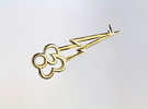 "Rainbow Dash's Key of Loyalty (≈75mm/3"" long) in Polished Brass"