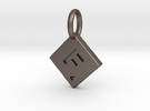SCRABBLE TILE PENDANT F in Stainless Steel