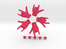 Respect  • Hook  / Fridge Magnet [5pcs] in Pink Strong & Flexible Polished