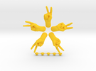 Peace  • Hook  / Fridge Magnet [5pcs] in Yellow Strong & Flexible Polished