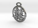 Double-happiness-pendant in Premium Silver