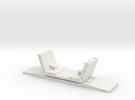 HO/1:87 Precast concrete bridge segment (small/no  in White Strong & Flexible