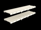 N Scale (Nn3) Low Profile 30' Flat w/ Rails in Frosted Ultra Detail