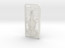Iphone 6 Case: Violin in White Strong & Flexible