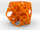 Geoorganic Squareangle Spheres in Orange Strong & Flexible Polished