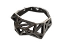 Slim Triangulated Ring - Size7.5 in Polished Grey Steel