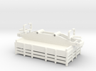 Goods car - carro merci H0e / H0n30 in White Strong & Flexible Polished