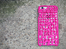Game Over IPhone 6 Cover in Pink Strong & Flexible Polished