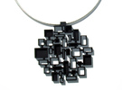 Mosaic Pendant in Black Strong & Flexible