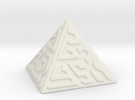 Glyph Pyramid in White Strong & Flexible