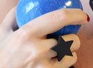 Star Ring (JR_0286_Star) in Black Strong & Flexible