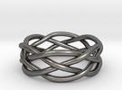 Dreamweaver Ring (Size 8) in Polished Nickel Steel