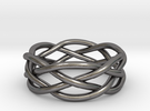 Dreamweaver Ring (Size 12) in Polished Nickel Steel