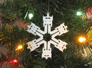 Snowflake Optimus Prime Ornament  in White Strong & Flexible