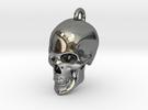 Human skull Pendant in Premium Silver