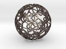 Pattern Ball 1 in Polished Metallic Plastic