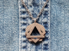 """""""GONS"""" Geometric Pendant in Stainless Steel"""